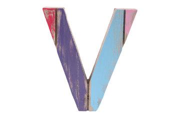 roots joy letter v afmeting letter 14 x 15