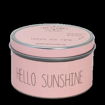 Sojakaars in blik Roze-Hello Sunshine- Geur Green teatime